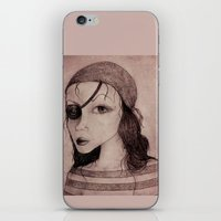 pirate iPhone & iPod Skins featuring Pirate by CokecinL