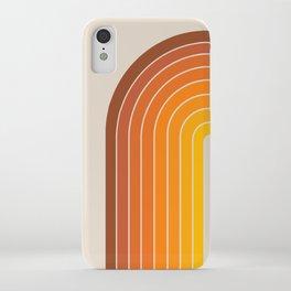 Gradient Arch - Vintage Orange iPhone Case