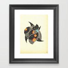 - summer spaceships of love - Framed Art Print