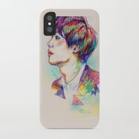 shinee iPhone & iPod Cases featuring Colorful SHINee Taemin  by sophillustration