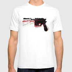 Blaster (Left) Mens Fitted Tee White SMALL