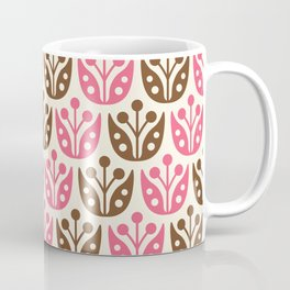 Mid Century Flower Pattern 13 Coffee Mug