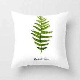 Ostrich fern Throw Pillow