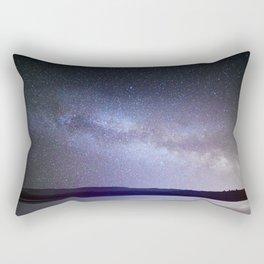 Milky Way Night Sky Rectangular Pillow