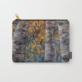 Aspen Trees by OLena Art Carry-All Pouch