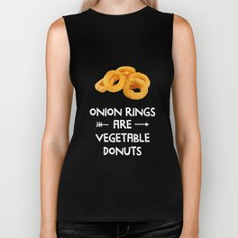 Onion Rings Are Vegetable Donuts Vegan T-Shirt Biker Tank