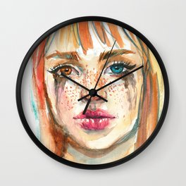 Rainy Girl Wall Clock