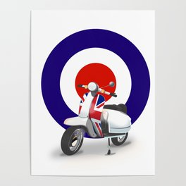 Mod Moped poster Poster