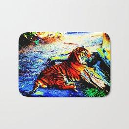 Relaxing Tiger Bright Bath Mat
