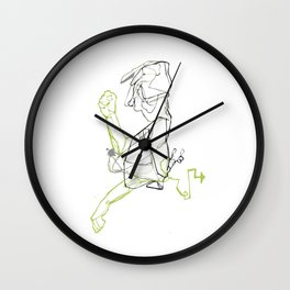 Dude in Motion Wall Clock