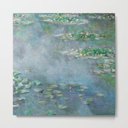 Monet Water Lilies / Nymphéas 1906 Metal Print