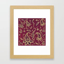 Paisley in Gold Framed Art Print