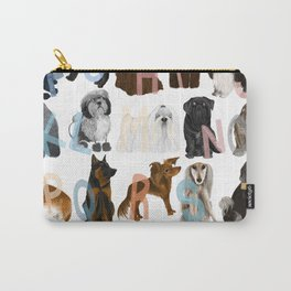 Dog Alphabet Carry-All Pouch