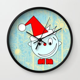 Funny Head with half smile Wall Clock