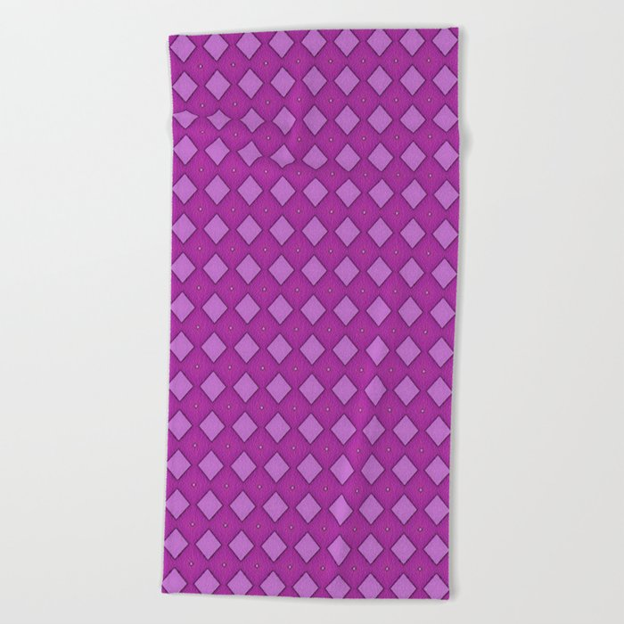 Diamonds - Pink Beach Towel
