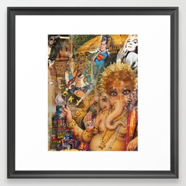 Lucky Latex Ganesh Framed Art Print