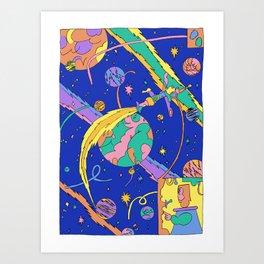 Interplanetary Travel Art Print