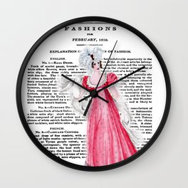 Regency Fashion Plate 1819, La Belle Assemblee Wall Clock