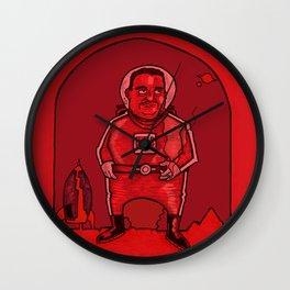 Smokebreak on Mars Wall Clock