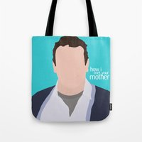 himym Tote Bags featuring Marshall Ericksen HIMYM by Rosaura Grant