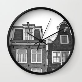 Love Amsterdam Houses and Bikes Wall Clock