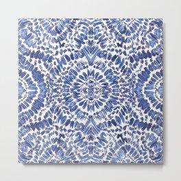 Abstract Indigo Pattern No.1 Metal Print