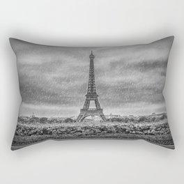 PARIS Eiffel Tower Thunderstorm Rectangular Pillow
