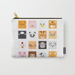 Animal Faces Carry-All Pouch