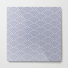 Fan pattern in blue Metal Print