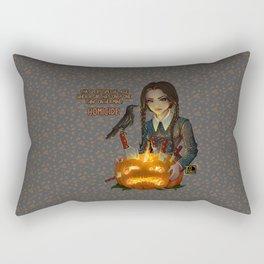 Wednesday Addams - Homicide Rectangular Pillow