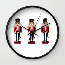 Watercolor Nutcracker trio Wall Clock