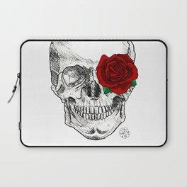Rose Skull Laptop Sleeve