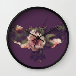 Vintage Purple Owl Wall Clock