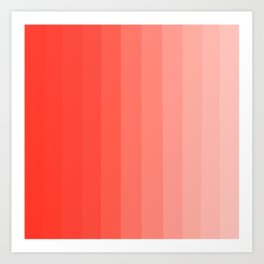 Shades of Living Coral From Hot Tomato Coral to Pale Blush Art Print