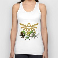 the legend of zelda Tank Tops featuring The Legend of Zelda by jorgeink