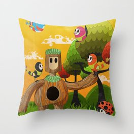 Treeborn Throw Pillow