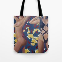 leather Tote Bags featuring Leather by Kim Leutwyler