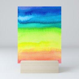 Rainbow Gradient Madness Watercolor by Imaginarium Creative Studios Mini Art Print