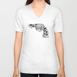 Pizza Gun Unisex V-Neck