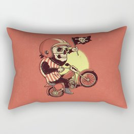 Skull Rider Rectangular Pillow