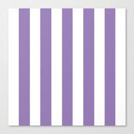 Lavender purple - solid color - white vertical lines pattern Canvas Print
