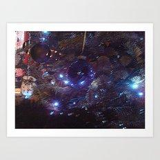 Distorted Christmas Art Print