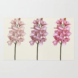 Three tones orchids Rug
