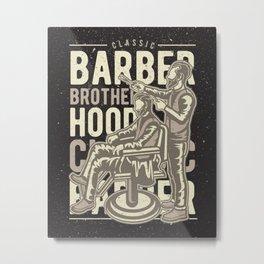 Barber Brotherhood Metal Print