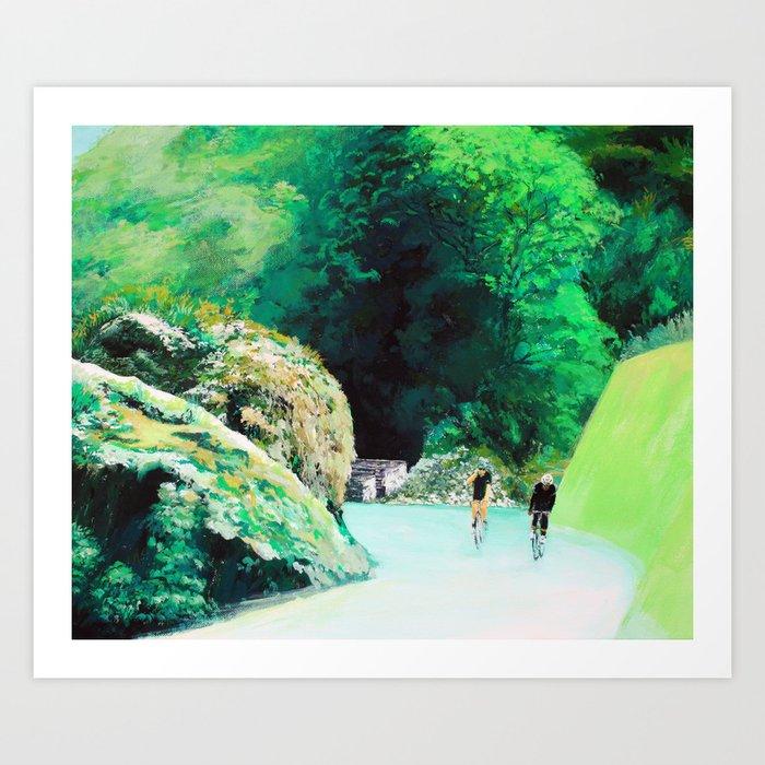 Green Road Art Print