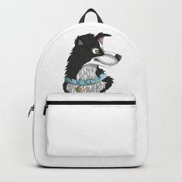 Black Border Collie Backpack