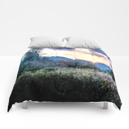 Mountain Sunrise Comforters