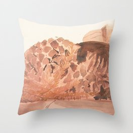 Still Life in Ochre Throw Pillow