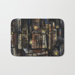 Classical African-American Masterpiece 'Harlem at Midnight' by Charles Alston Bath Mat