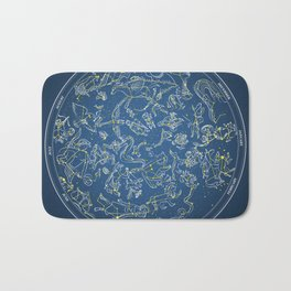 Constellations of the Northern Sky - Negative version Bath Mat
